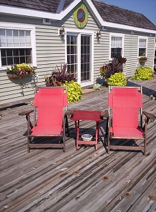 Green Turtle 1 dock chairs and coffee