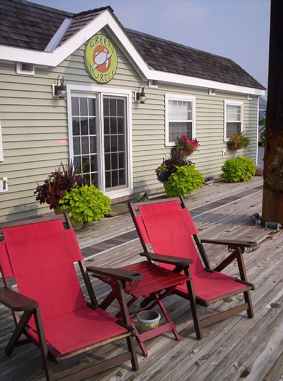 Green Turtle 1 dock chairs