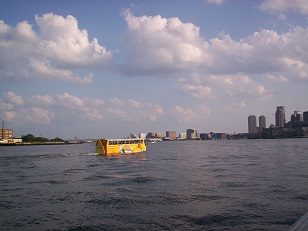 Super Duck Tours passing by Green Turtle